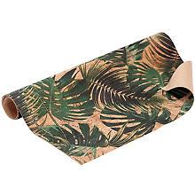 Coupon de tissu en liège 'feuilles', 34,8 x 50 cm