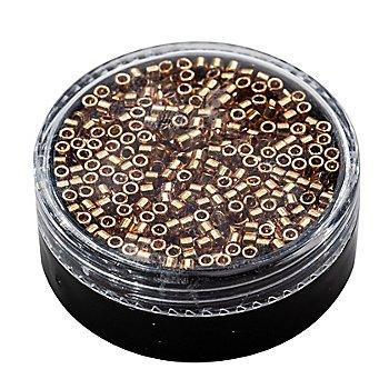 Miyuki-Perlen, gold-metallic, 2,2 mm Ø, 4 g