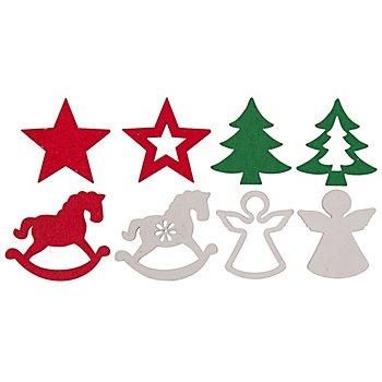 Motifs déco 'Noël', 2,5 - 3,5 cm, 36 pièces