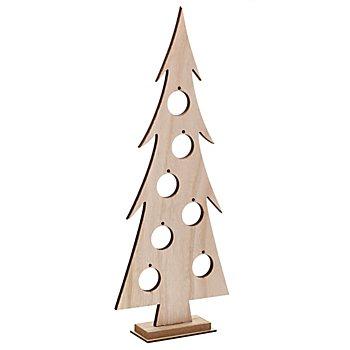 Tanne aus Holz, 40 x 16,5 x 5 cm