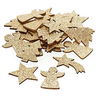 Motifs déco 'Noël', 3 - 4 cm, 24 pièces