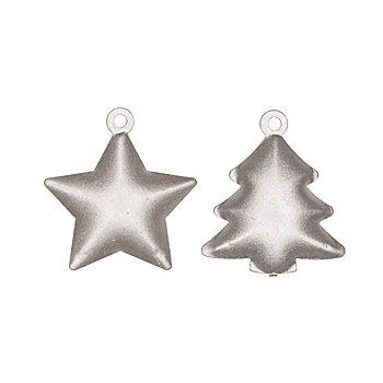 Schellen 'Weihnachten', silber, 3,5 cm, 10 Stück
