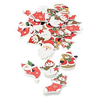 Confettis de table 'Noël', 4,5 - 5,5 cm, 24 pièces