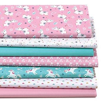 Patchwork- und Quiltpaket 'Lama & Einhorn', rosa-color