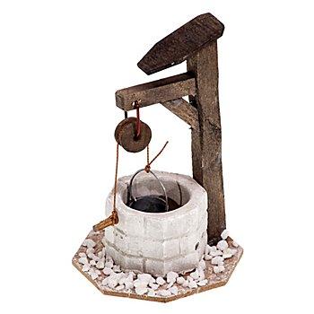 Brunnen aus Holz, 7 x 11 cm
