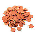 Petites dalles en terre cuite, 100 pièces