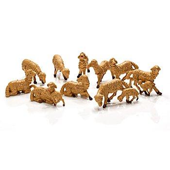 Schafe, braun, 3 - 5 cm, 10 Stück