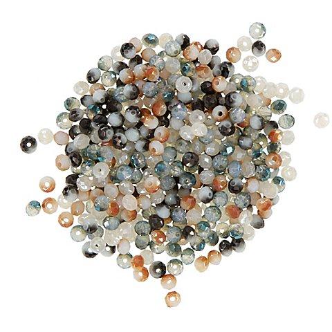 Image of Facettierte Glasperlen, Brauntöne, 4 mm Ø, 300 Stück
