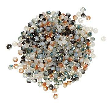 Facettierte Glasperlen, Brauntöne, 4 mm, 300 Stück