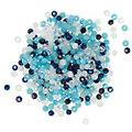 Facettierte Glasperlen, Blautöne, 4 mm, 300 Stück