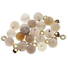 Natursteinperlen-Set, beige, 8 mm, 35 Teile
