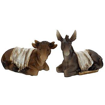Ochse und Esel mit Decke