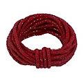 Wolldraht mit Glimmerband, rot-silber, 5 mm Ø, 5 m
