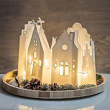 Sachets de papier 'village illuminé'