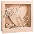 "Holzbausatz 3D-Motivrahmen ""Love"", 24 x 24 x 6,3 cm"