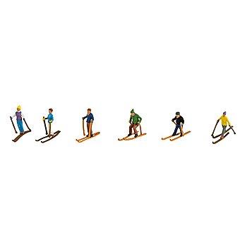 Mini-Skifahrer, 2 cm, 6 Stück