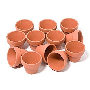 Pots en terre cuite, 5 cm de haut, 5,5 cm Ø, 12 pièces
