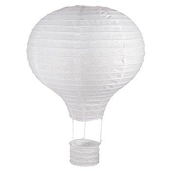 Papierlampion 'Heissluftballon', weiss, 30 cm Ø
