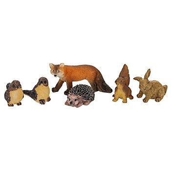 Wald-Tiere, 1–4 cm, 6-teilig