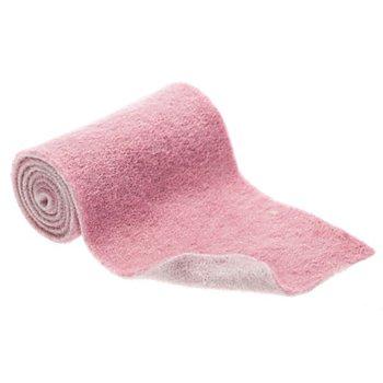 Wollband, zweifarbig, grau-rosa, 15 cm, 1 m
