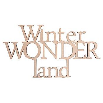 Holzschrift 'Winterwonderland', natur