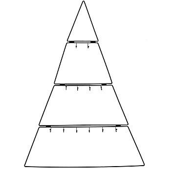 Metallbaum mit Haken, 80 cm