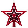 """Christbaumspitze """"Stern"""" aus Kunststoff, rot, 20 cm Ø"""