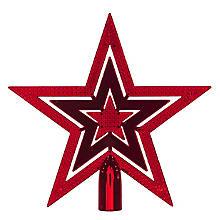 Pointe pour sapin de Noël 'étoile', rouge, 20 cm Ø