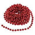 Perlenkette, rot, 10 m
