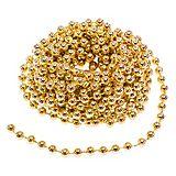 Perlenkette, gold, 10 m