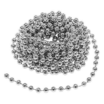 Chaîne de perles, argent, 10 m