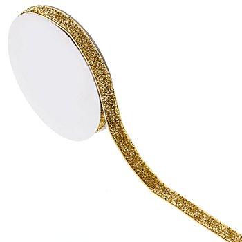 Glitzerband, gold, 10 mm, 5 m