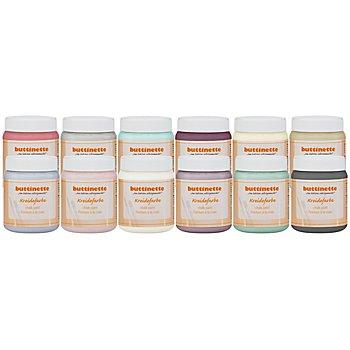 buttinette Kreidefarbe in verschiedenen Farbtönen, 250 ml
