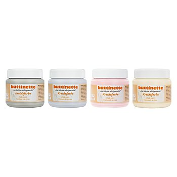buttinette Kreidefarben-Set, Vintage, 4x 150 ml