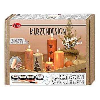 Kit créatif 'design sur bougies - Shining Christmas'