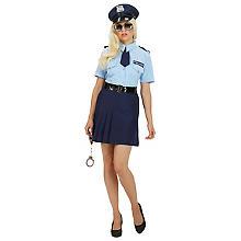Déguisement 'femme policier', bleu/bleu clair