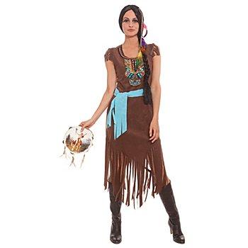 Faschingskostüm 'Indianer-Frau'