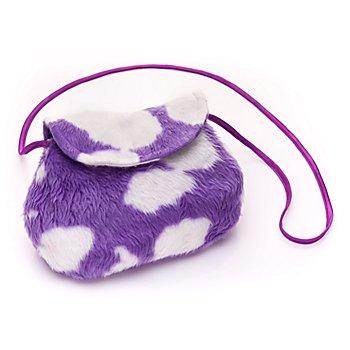 Sac 'vache', violet/blanc