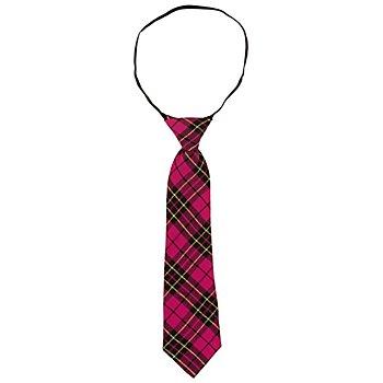 Krawatte, pink-kariert