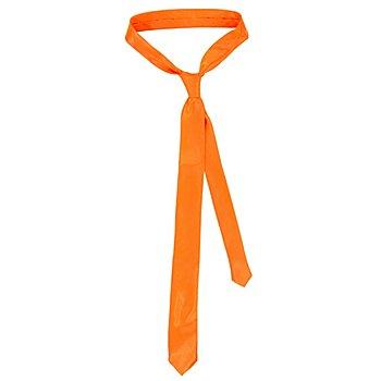 Cravate, orange fluo
