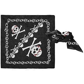 Piratentuch, schwarz/weiß, 2 Stück