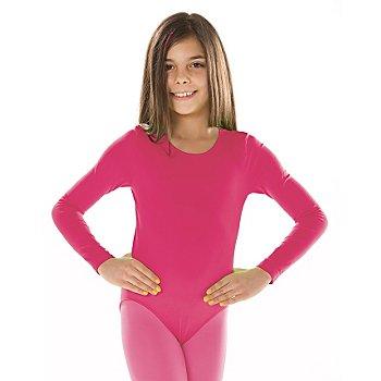 Kinder-Langarmbody, pink
