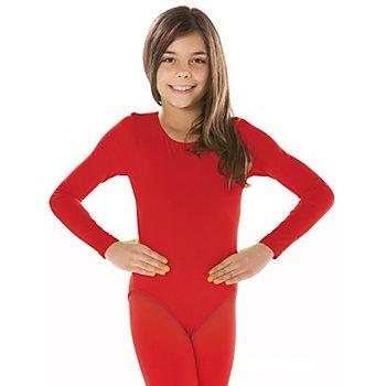 Body à manches longues pour enfants, rouge