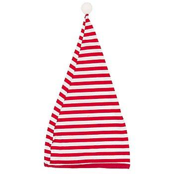 Bonnet de nuit à rayures, rouge/blanc