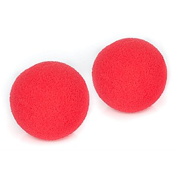 Clown-Nase rot, 5 cm Ø, 2 Stück