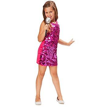 Robe 'Glamour-Girl' pour enfants, rose vif