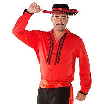 Chemise 'espagnol', rouge/noir