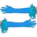 Handschuhe Glamour lang, türkis