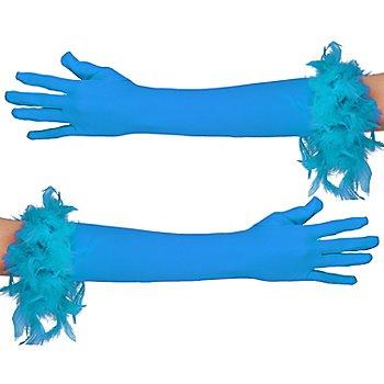 Gants longs, turquoise