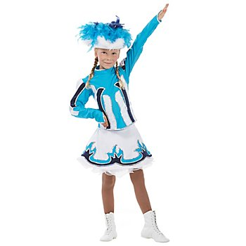 buttinette Déguisement majorette pour enfants, turquoise/bleu/blanc